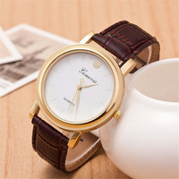 Mens Brown Leather Strap Watch Classic Watches +  Beautiful Gift Box