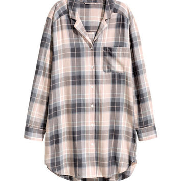 Flannel Nightshirt - from H&M