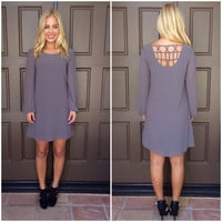 Good Catch Shift Dress- CHARCOAL