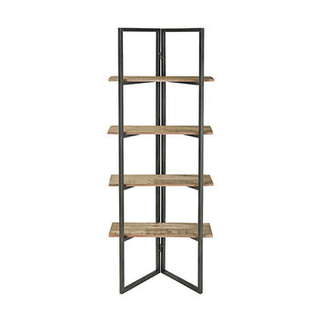 Sterling Industries Flex Grey Washed Oak And Aged Black 24 Inch Shelf 351 10529 |