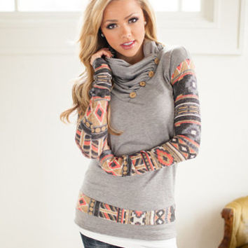 Nomadic Sleeve Sweatshirt Gray
