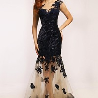 Jovani Long Evening Gown Formal Prom Dress