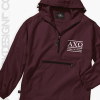 Alpha Chi Omega - Letter Windbreaker (Maroon) - Order now to help us reach our goal!
