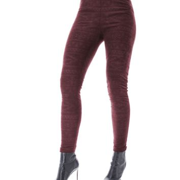 Tonal Tribal High-Waist Shaping Leggings