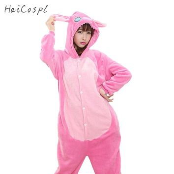 Women Onesuit Pajama Anime Cosplay Costume Adult Animal Rabbit Sleepwear Lovely Flannel Warm Carnival Party Couple Kigurumi