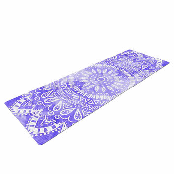 "Nika Martinez ""Boho Flower Mandala in Purple"" Lavender Yoga Mat"