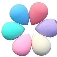JOVANA 20 Pcs Professional Beauty Makeup Sponge Blender Flawless Smooth Shaped Water Droplets Puff (Random Color)