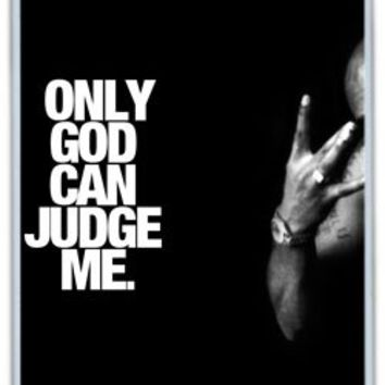 Tupac Only God Can Judge Me iPhone 5/5S Case, iPhone 5 5S Cases Hard Shell White Cover Cases
