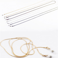 Fahion women Glasses chains Metal lanyard Glasses lanyard Jewelry chains With slip covers 79 cm Fine copper chain