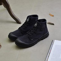 Men Boot Casual Canvas Boot Lace Up Shoes Military Boot Outdoor Shoes
