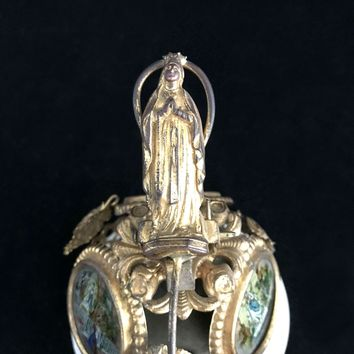 Victorian Desk Bell with Images from Lourdes
