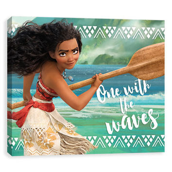 Moana 'One with the Waves' Wrapped Canvas