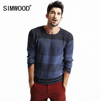 SIMWOOD 2016 new autumn winter causal men sweaters kintwear fashion brand clothing warm striped mix color MY2023