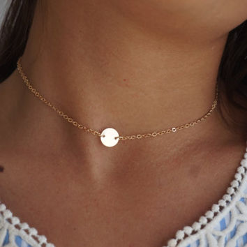 Dainty Beaded Satellite Chain Choker, Layering Choker Necklace, Delicate Gold Statement Necklace, Dew Drop Necklace, Delicate Gold Choker