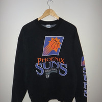 New Year Sale PHOENIX SUNS Basketball NBAP Sweater Jumper Pullover Warm Up Shirt Vintage Sweatshirt