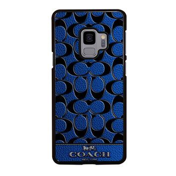 COACH NEW YORK BLUE Samsung Galaxy S3 S4 S5 S6 S7 S8 S9 Edge Plus Note 3 4 5 8 Case