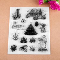 House Transparent Clear Silicone Stamp/Seal for DIY scrapbooking/photo album Decorative clear stamp sheets