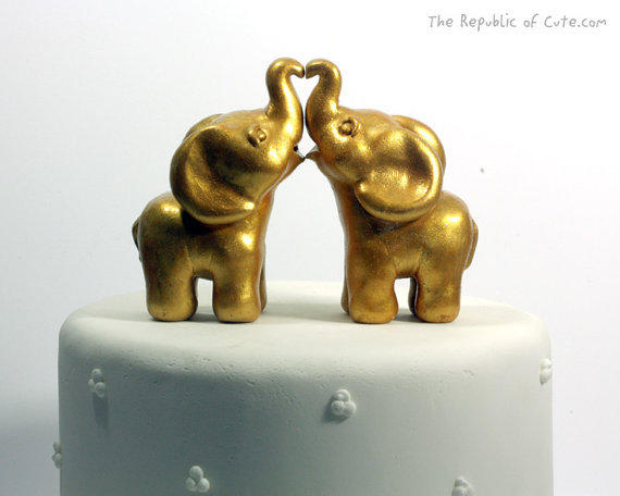 gold elephant wedding cake topper gold indian elephant wedding cake from republicofcute on etsy 14752