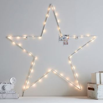 Star Outline Wall Light