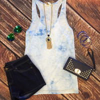 Cloudy Day Tank: Blue