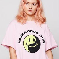 Aymmy in the Batty Girls Ying and Yang Smiley T-shirt - Aymmy in the Batty Girls - Featured - Womens