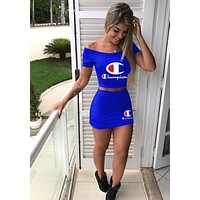 '' Champion '' Short Sleeve Vest Skirt Two-Piece