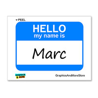 Marc Hello My Name Is Sticker