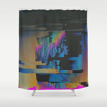 Bismuth Crystal Shower Curtain by Ducky B