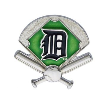 DCCKG8Q MLB Detroit Tigers Lapel Pin Field Crossed Bats & Ball