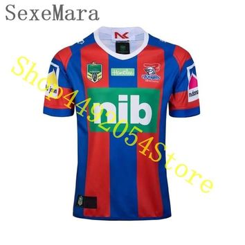 SexeMara for Top Quality 2019 New Roosters Shirts Rugby Knights Raiders Cowboys Rugby 2018 west tigers Rugby T shirts Size XXL