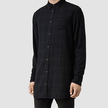 Mens Fluxus Shirt (Black Watch Check) | ALLSAINTS.com