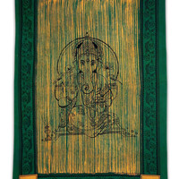 Lord Ganesha Tapestry,Indian Tapestries,Twin Size Sheets,Cotton Wall Hanging,Picnic Blanket,Wall Décor Bedspread,Boho Wall Tapestries TP578C