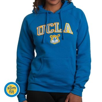 UCLA Women's Block Arch Over Joe Hoodie - Blue