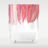 Lipstick Shower Curtain by KJ Designs