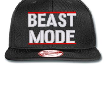 beast mode embroidery hat - New Era Flat Bill Snapback Cap