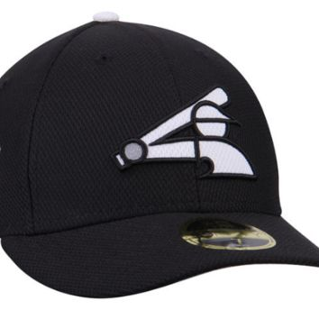 Men's Chicago White Sox New Era Black Spring Training MLB17 Side Patch Diamond Era Low Profile 59FIFTY Fitted Hat