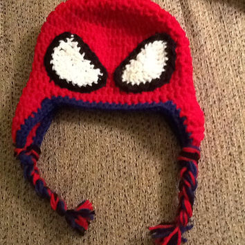 Spiderman Crochet Beanie - all sizes - made to order
