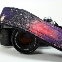 Galaxy Camera Strap, No. 28, Hand painted, dSLR or SLR, Cosmos, Nebula, OOAK