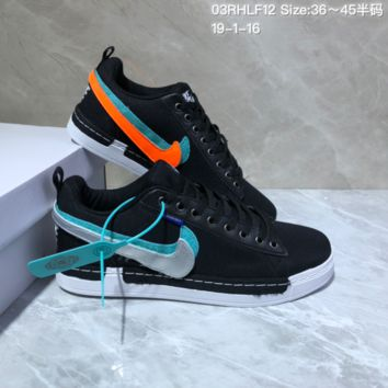 DCCK N968 Nike Lunar Force 1 Duck Boot Low Magic stick change hook recreational board shoe Black