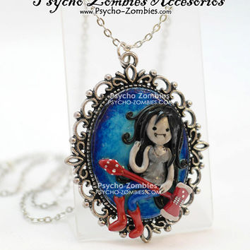 Marceline from Adventure time cameo OOAK necklace