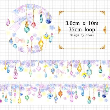 Goozu Design Beautiful Watercolor Flower Jewelry Pendant Washi Tape DIY Scrapbooking Sticker Nice Masking Tapes