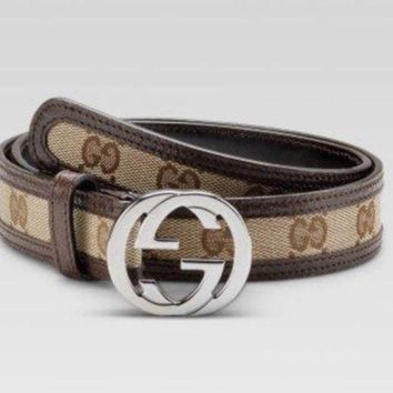 Authentic New Gucci Supreme GG Buckle Belt Size 90cm 36 Waist GUCCI CLASSIC
