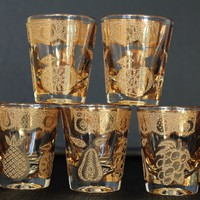 Culver Florentine Shot Glass Set, Set of Five