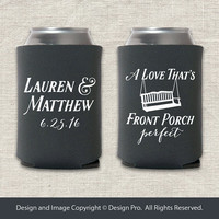 Front Porch Perfect - Wedding Can Cooler