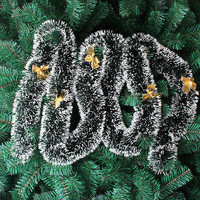 Xmas Tree Ornament Decoration Party Holiday Christmas Dark Green Ribbon Decor HU