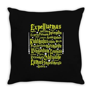 Expelliarmus Harry Potter Spell Throw Pillow
