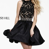 Laced Embellished Dress by Sherri Hill