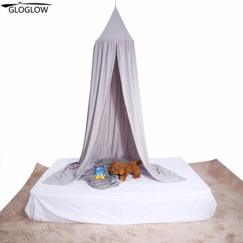 Kid Bed Canopy Bed Curtain Round Dome Hanging Mosquito Net Curtain Moustiquaire Zanzariera For Baby Kids Playing Home Klamboe