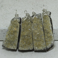 OOAK Friendship Necklaces set of 4 hand cut Raw Citrine Pendants Bridesmaid Jewelry Item GS4