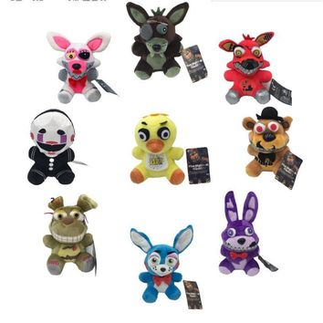 18CM  At  Horror Game Puppet Chica Bonnie Sanshee Freddy Plush Stuffed Animal Collectible Toy Christmas Gift
